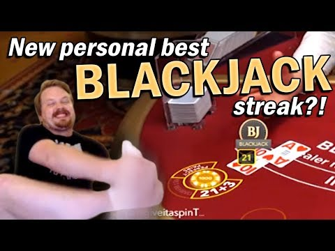 Blackjack Winning Streak - THE ROLL IS REAL!!