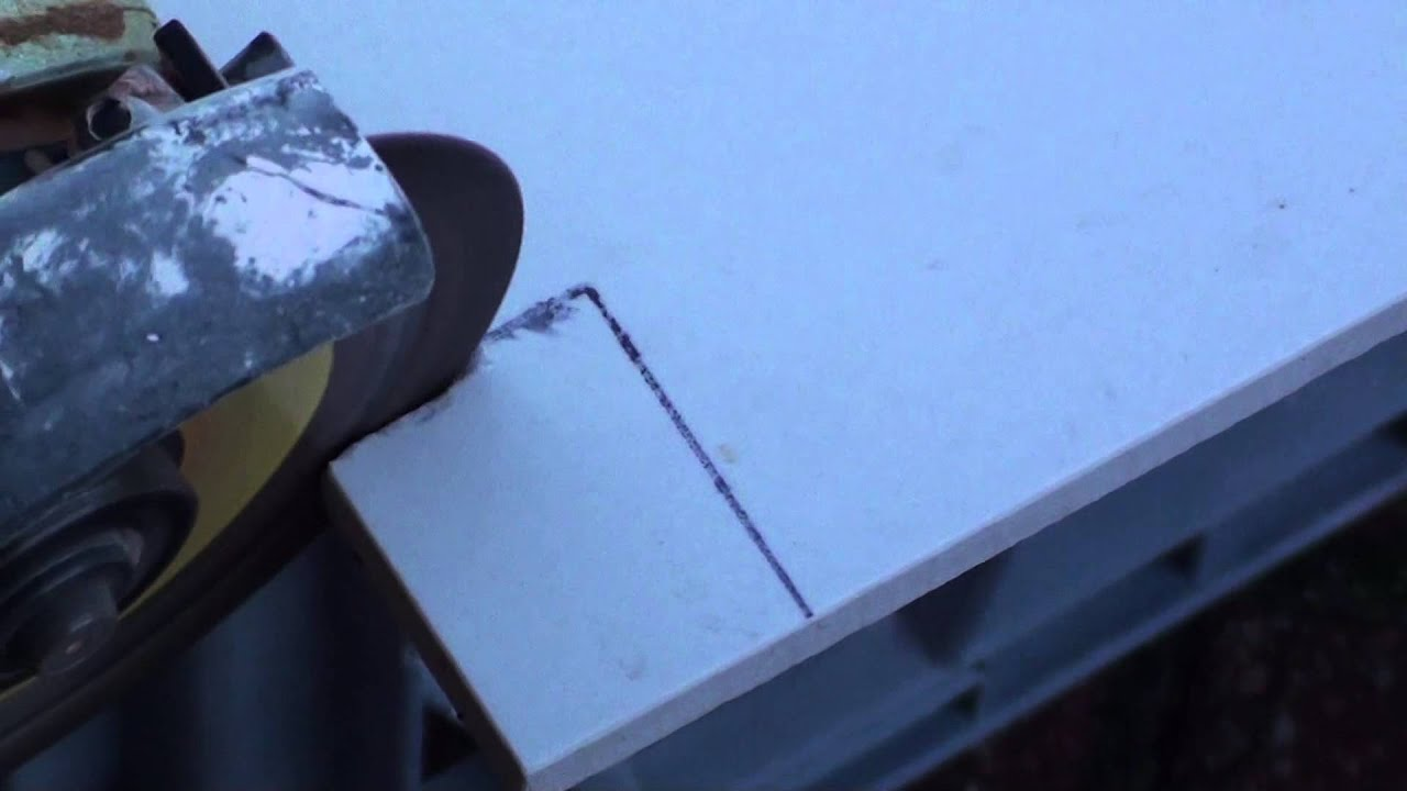 Cheap Way to Cut Porcelain Tiles Using Portable Grinder - YouTube