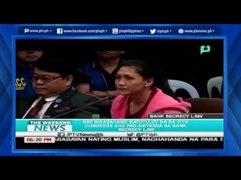 [TheWeekendNews] BSP inaasahan ang pagamyenda sa Bank Secrecy Law [06 05 16]