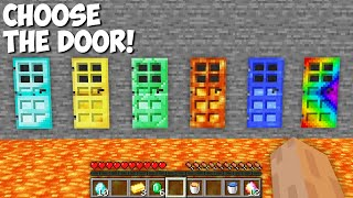 Which DOOR TO CHOOSE ? DIAMOND DOOR or EMERALD or GOLD or LAVA or WATER DOOR in Minecraft !