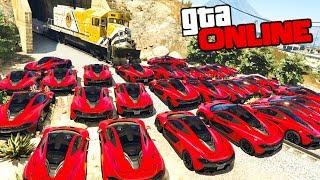 ГТА 5 СМОГУТ ЛИ 100 МАШИН ОСТАНОВИТЬ ПОЕЗД ЭТО НЕВОЗМОЖНО! GTA 5 МОДЫ ИГРЫ ОНЛАЙН ВИДЕО GTA 5 ONLINE