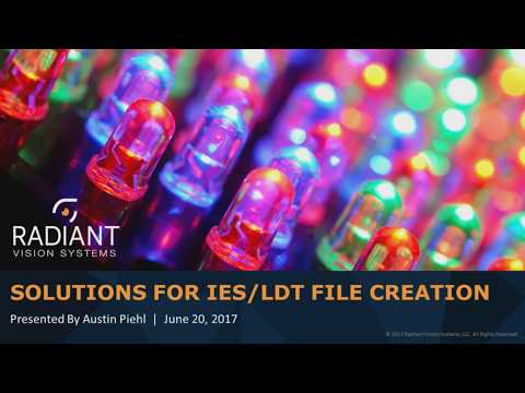 Solutions for IES/LDT File Creation