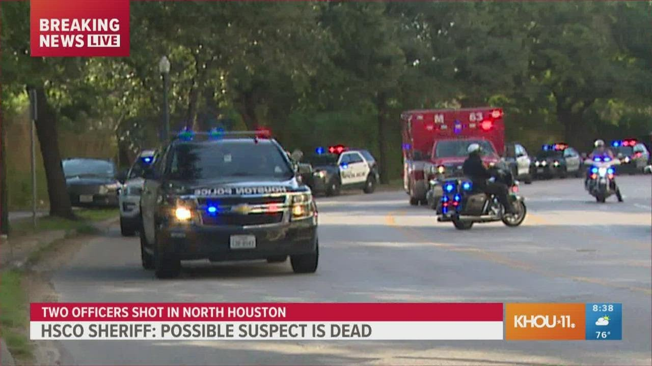 Download WATCH: Big police escort for officer wounded in Houston shooting