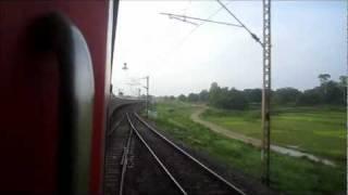 Bhubaneshwar Rajdhani Express Negotiates a Sharp Curve at 125-130 kmph and Speeds Towards Parasnath