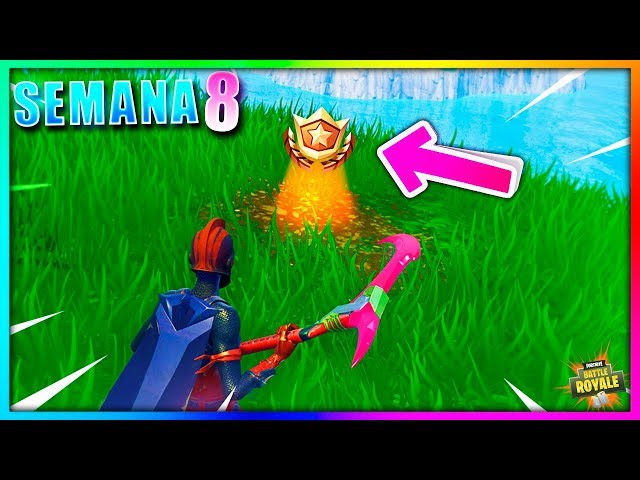 Busca Entre Tres Asientos Gigantescos (Semana 8 DESAFIOS) Temporada 5 Fortnite Battle Royale