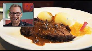 How to make Sauerbraten - German Beef roast  - German Recipes - klaskitchen.com - simple recipes