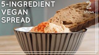 5-Ingredient Sunflower Seed Spread  High Protein Vegan Recipe