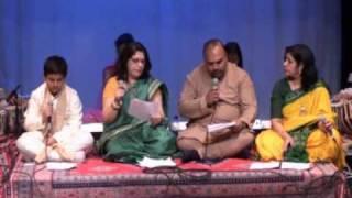 Swar Sadhana Vocal Contest 2010 - Round 3 - JAN23-Chinmay,Chandra,Swamy,Sunita.wmv