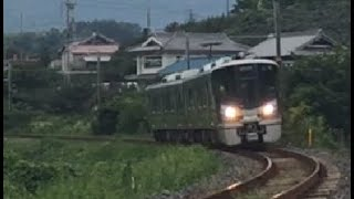 西笠田⇒笠田 大カーブを行く227系1000番台