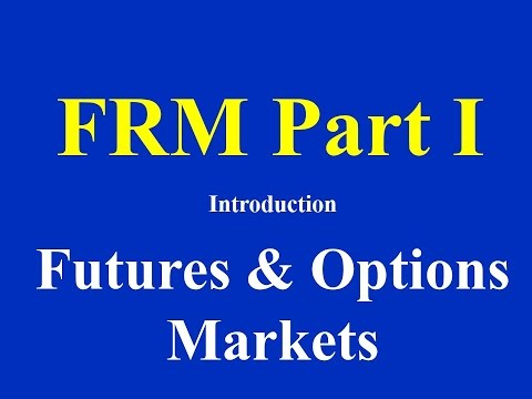 FRM Part I - Introduction: Futures and Options Markets