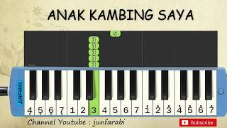 not pianika anak kambing saya - lagu daerah nusantara indonesia - belajar pianika not angka