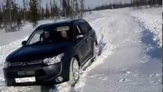 Mitsubishi Outlander III на зимнике
