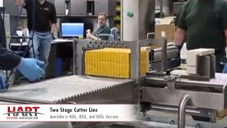 Two Stage Cutter Line | Cheese Cutting Equipment | HART Design & Manufacturing