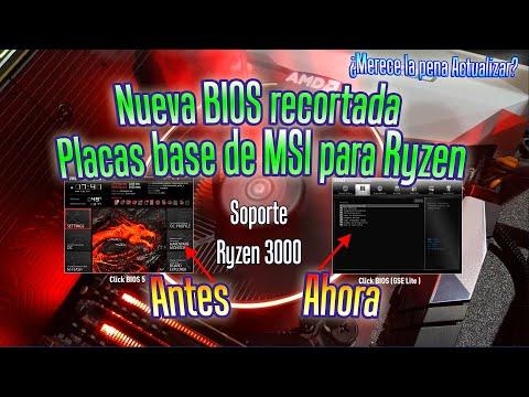 Nueva BIOS Recortada Para Placas Base Ryzen De MSI | Click BIOS 5 A GSE-Lite Soporte AMD Ryzen 3000