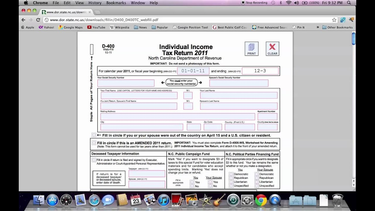 How To Fill Out Nc State Income Tax Form Online Print Options
