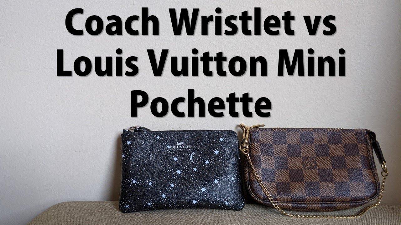 Louis Vuitton Mini Pochette vs. Coach Wristlet - Comparing Quality and  Capacity - LV Alternative