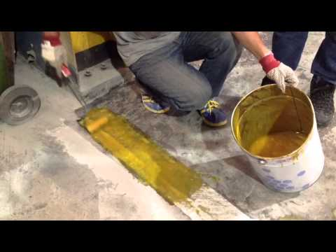 Epoxy mortar filling the gap