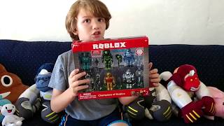 Unboxing Champions of Roblox 6 Figure Box Set