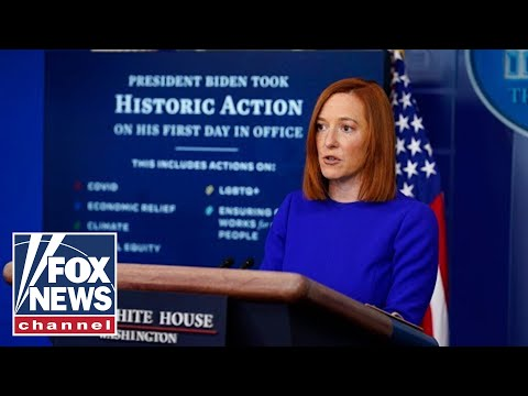 Biden press secretary takes softball questions in first briefing