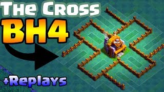 Clash of Clans | COOL BH4 Base - The Cross | Night Mode Versus Battle Builder Hall 4 Base | CoC