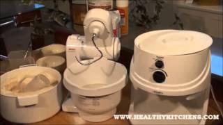 Bosch Compact Mixer Demonstration   100% Whole Grain Bread Recipe