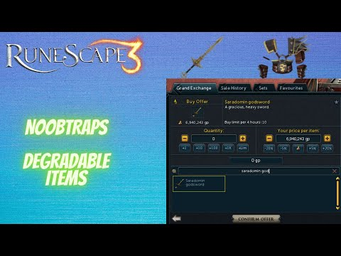 RuneScape 3 - Noobtraps (Degradable Items)