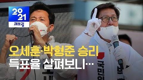 오세훈·박형준 승리 왜?…득표율 살펴보니 / KBS 2021.04.08.