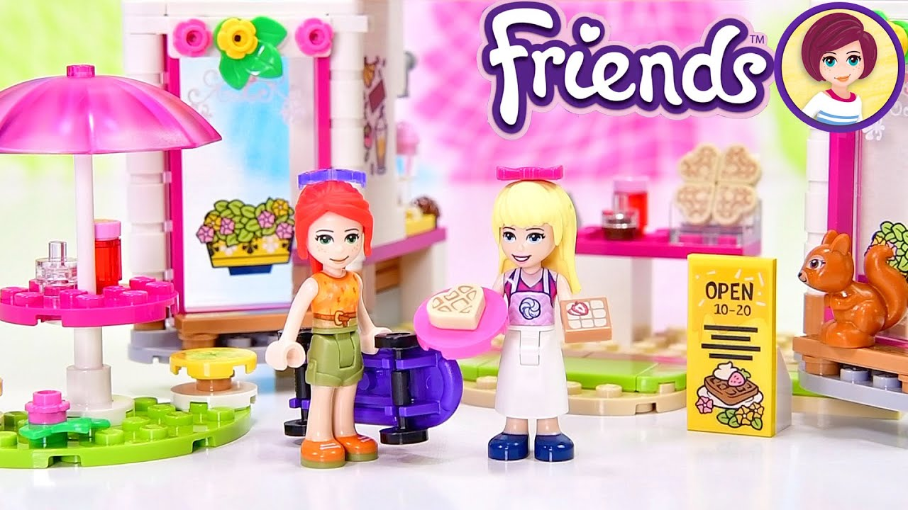 Lego Friends Heartlake City Park Cafe (aka the Waffle House) - Build & Review