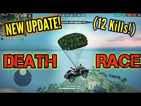 DEATH RACE MODE! (New update!) - Free fire Battlegrounds