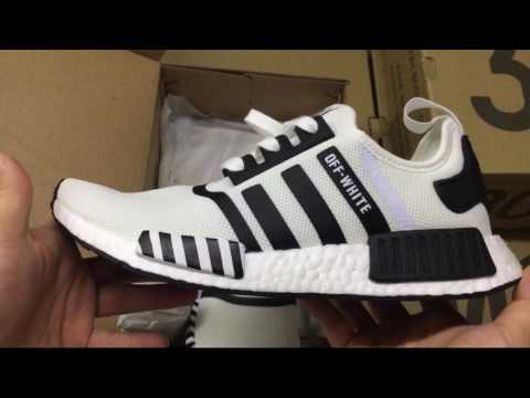 4c1ae62743868 UA Adidas NMD R1 Off-white BA7246 shoesgather - YouTube
