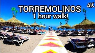 ⁴ᴷ TORREMOLINOS walking tour, Costa del Sol, Andalusia, Spain 🇪🇸