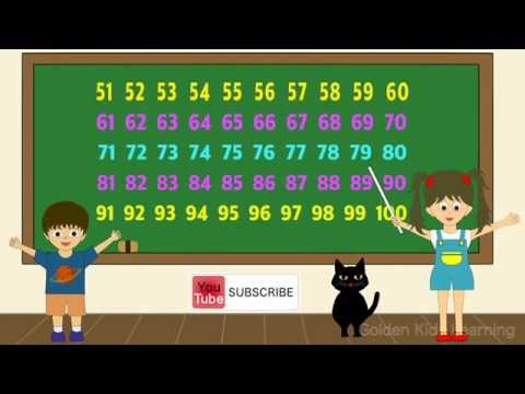 Count numbers from 51 through 100 in English ~ You Tube ~