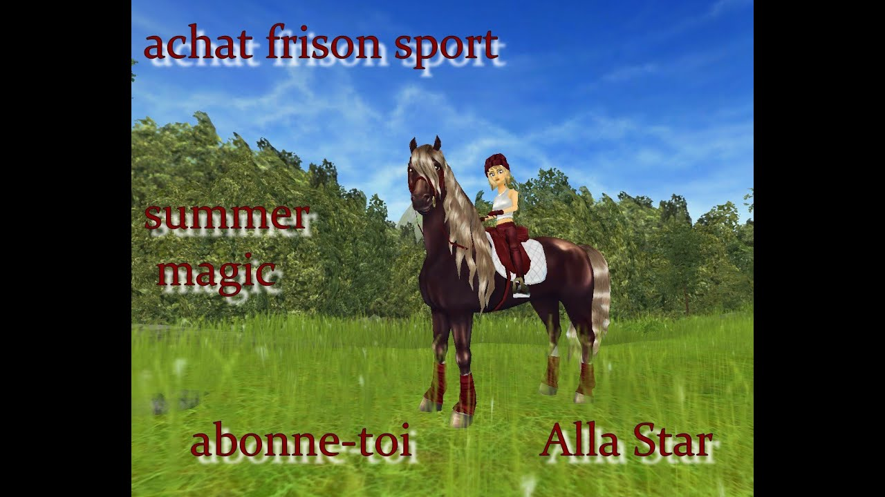 star stable achat de mon frison sport youtube. Black Bedroom Furniture Sets. Home Design Ideas
