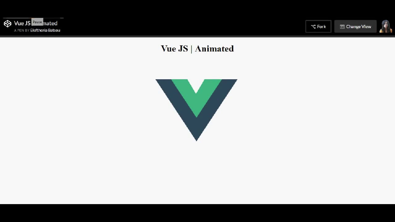 How to pure css that - Vue Logo with animation (for beginners!)