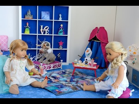 American Girl Doll Anna Frozen Sleepover Bedroom
