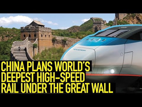 China Plans World's Deepest High-speed Rail Station, Right Under the Great Wall