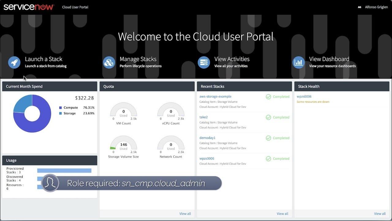 Cloud Management | ServiceNow Docs
