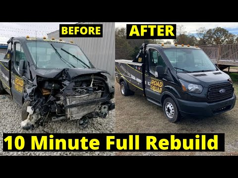Rebuilding a Salvage Ford Transit in 10 Minutes like throtl