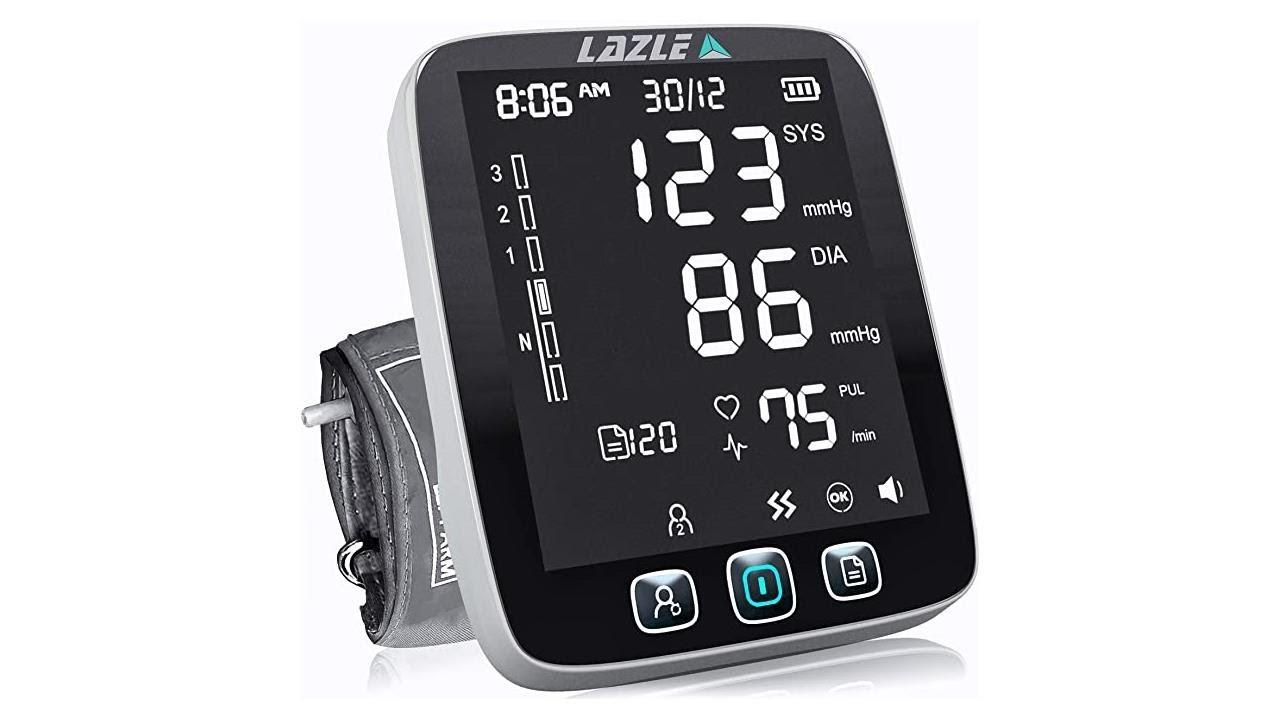 Download LAZLE Blood Pressure Monitor - Automatic Upper Arm Machine & Accurate Adjustable Digital BP Cuff Ki