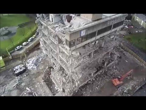 Bradford & Bingley DEMOLITION - Birds Eye View