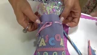Aprenda a fazer um fofo saquinho para doces de Páscoa