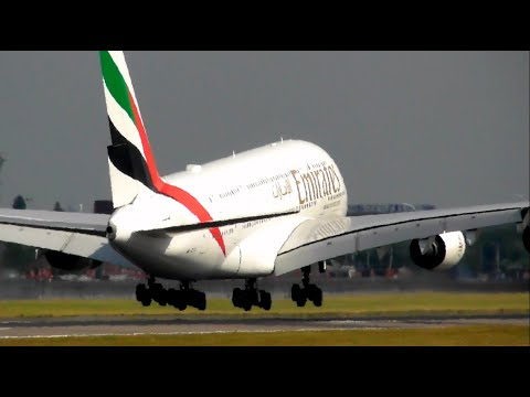 Planespotting at London Heathrow Airport, RW09L Arrivals *Incl A380*