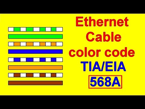tea eia 568a cat5 cat6 wiring diagram color code youtube