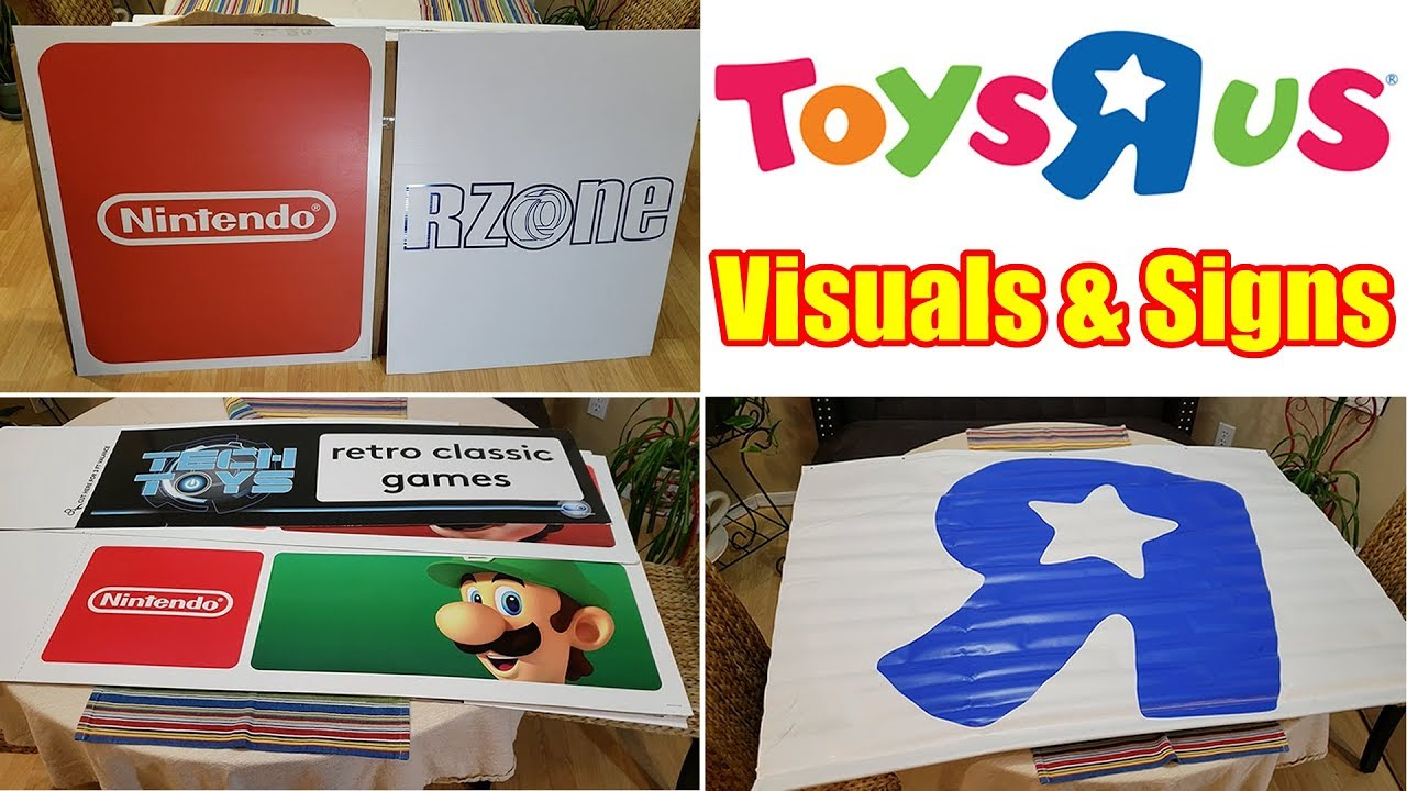 Toys R Us Visuals Signs Geoffrey Nintendo More Retail