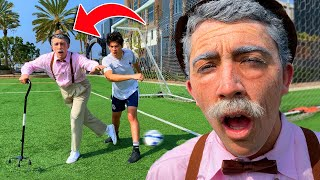 GRANDPA PLAYS SOCCER (football) *ankles broken*