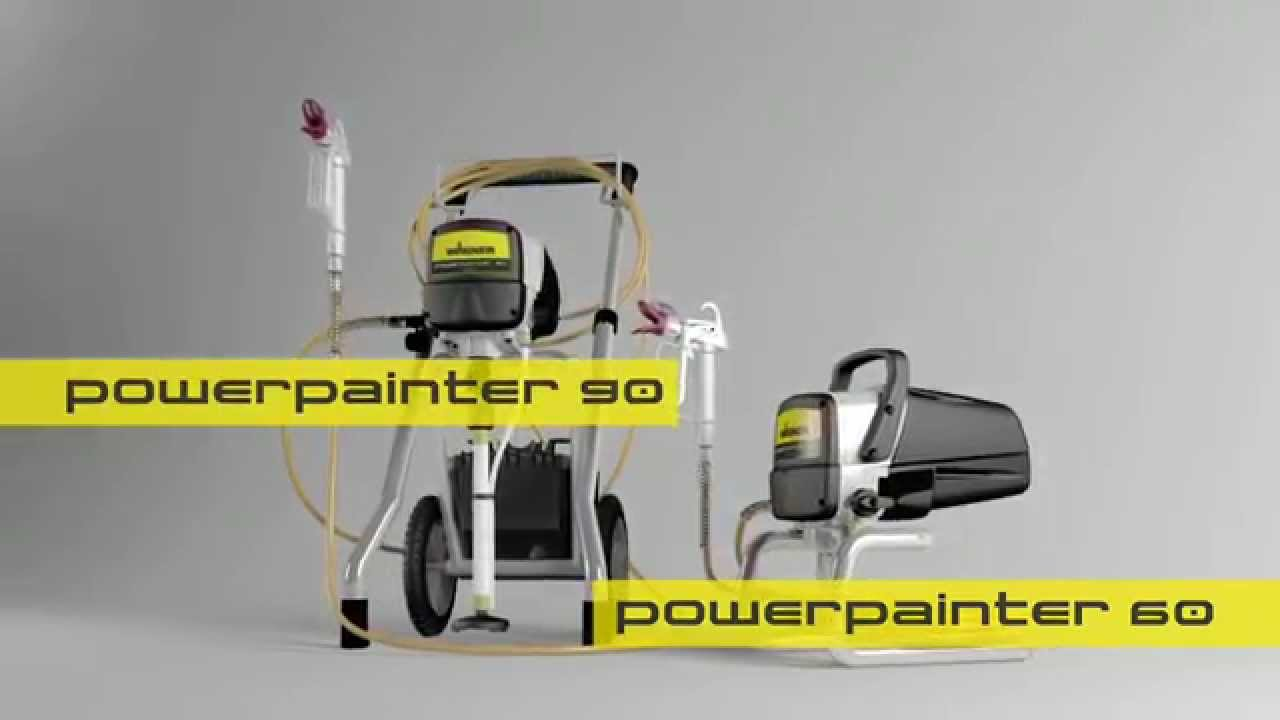 wagner powerpainter 60 och 90 youtube. Black Bedroom Furniture Sets. Home Design Ideas