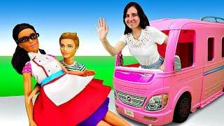 Куклы Барби и подружки в кафе. Кен влюбился в Терезу! Сериал для девочек. Шоу Я не хочу в школу 5