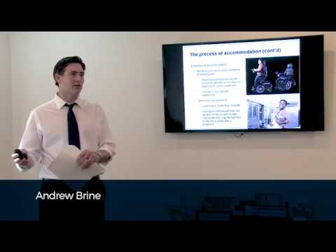 The Duty to Accommodate Persons with Disabilities in the Workplace with Andrew Brine
