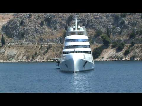 MEGA YACHT IN KEFALONIA GREECE by Geobaba