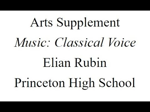 Elian Rubin - Classical Voice Submission - 11-3-18